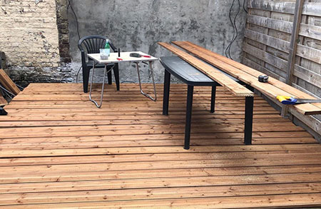 Fabrication et pose de terrasse en bois à Tourcoing