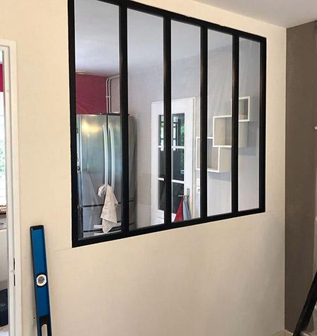 Fabrication et pose de verrière d'intérieur à Tourcoing